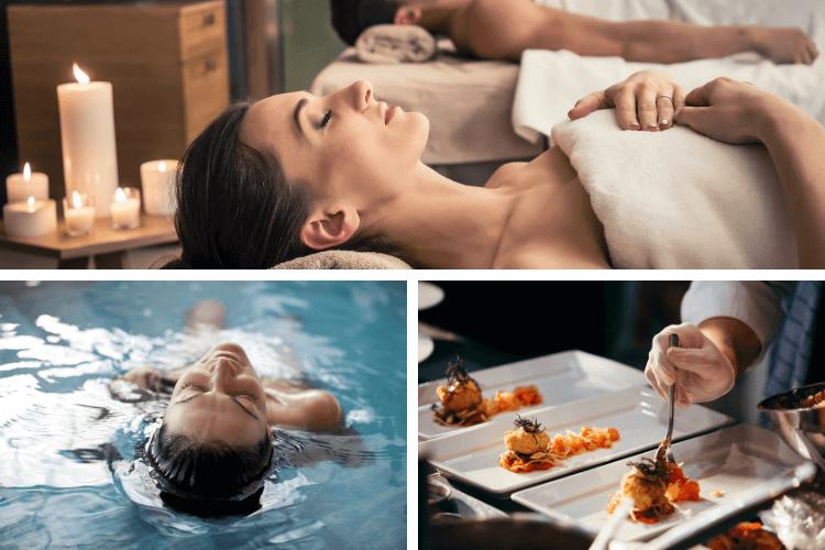 montage of spa photos