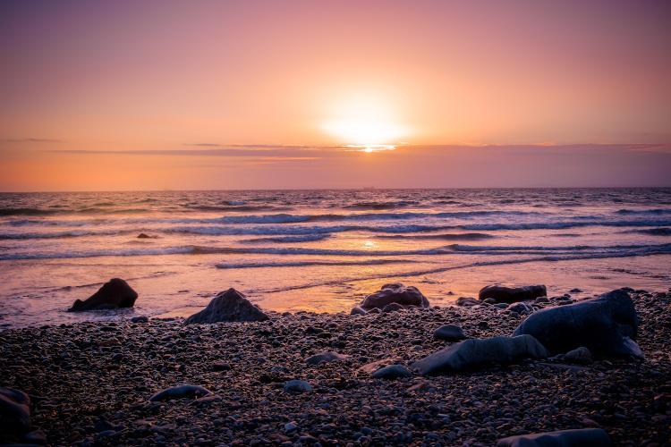Druidston Beach sunset