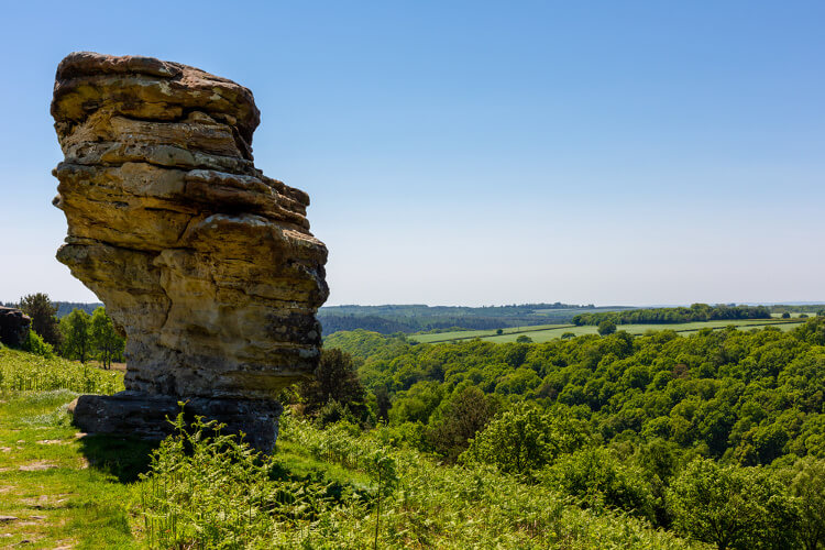 Bridstone rocks at Dalby Forest, North York Moors