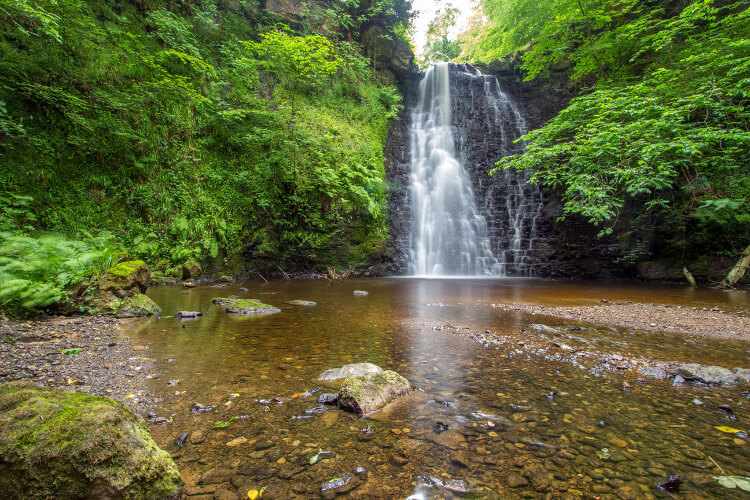Falling Foss waterfall in the North York Moors