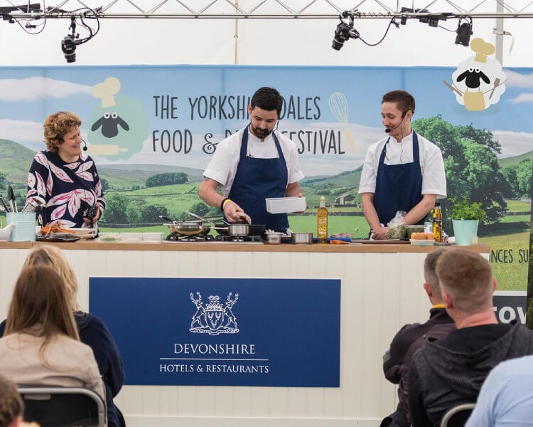 Chef demonstration at the Yorkshire Dales Food and Drink Festival