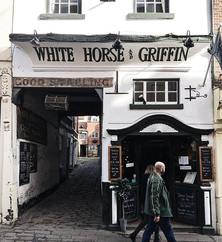 The White Horse and Griffin historic pub in Whitby, Yorkshire