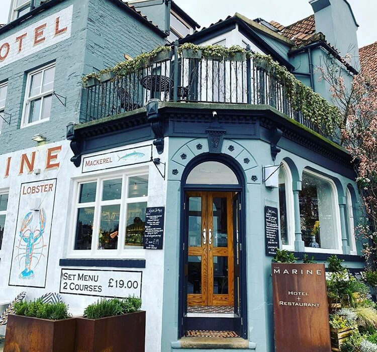 The Marine Hotel and Restaurant in Whitby, Yorkshire
