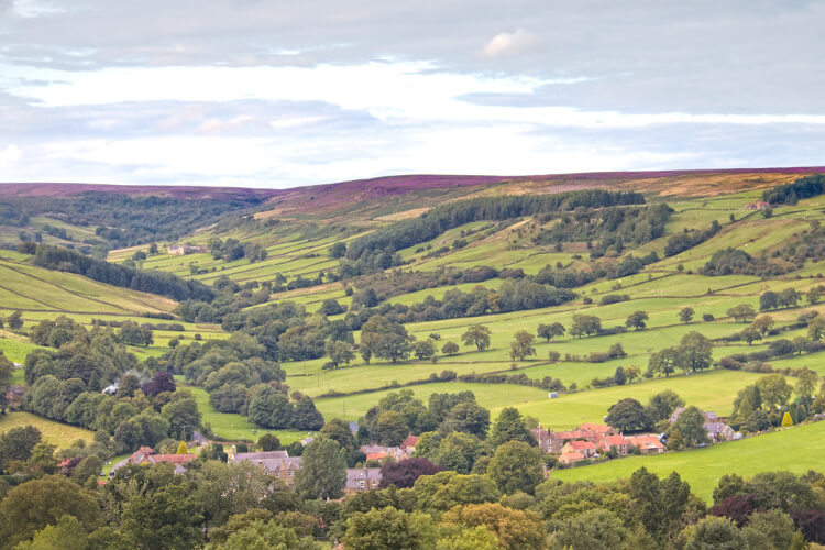 The country landscape of Rosedale in the North York Moors