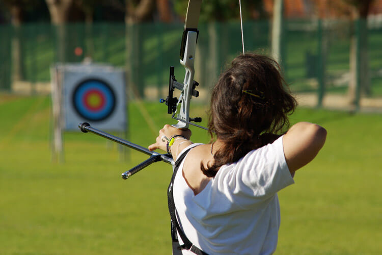 Archery which you can try at Heatherton World of Adventure