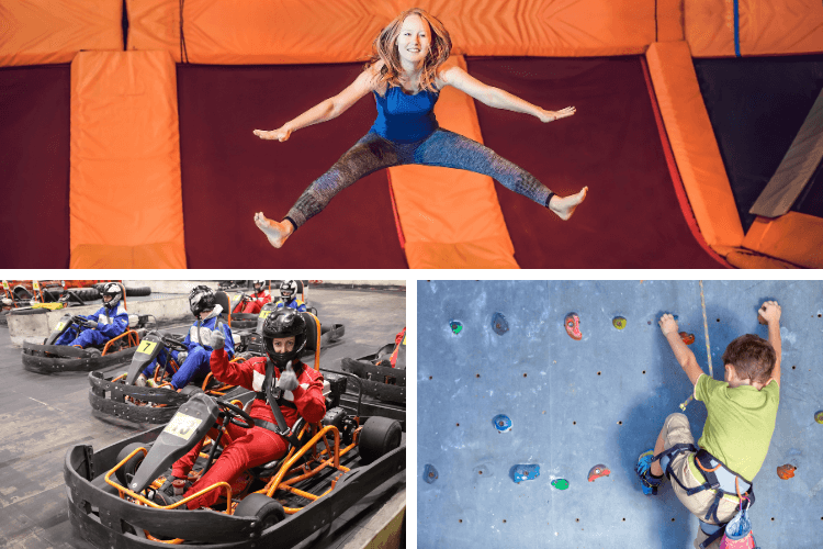 Montage of active things to do in Pembrokeshire