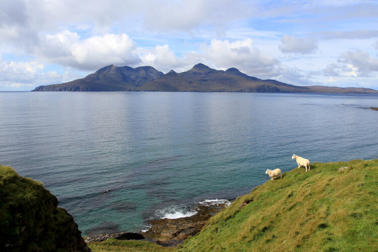 Isle of Rum viewed from the Isle of Eigg