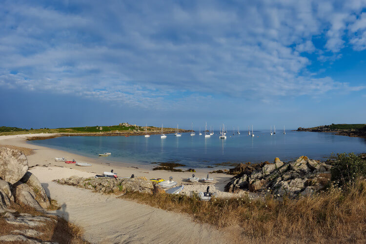 A beach on St Agnes, the southernmost island in the Isles of Scilly