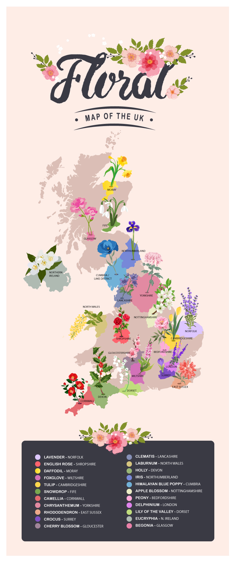 Floral Map of the UK