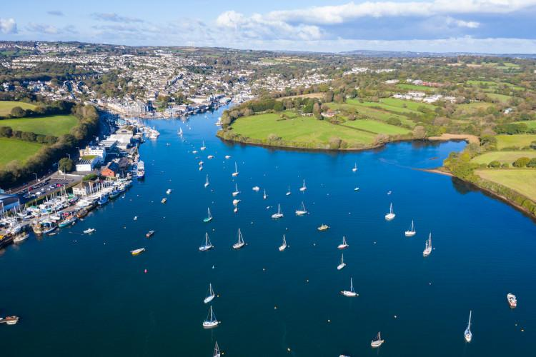 Falmouth in South Cornwall