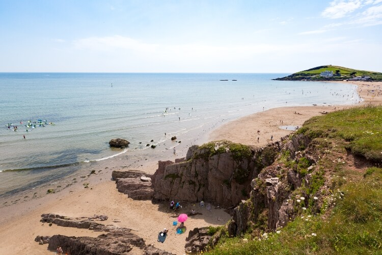 A view from Bigbury Beach on a family holiday