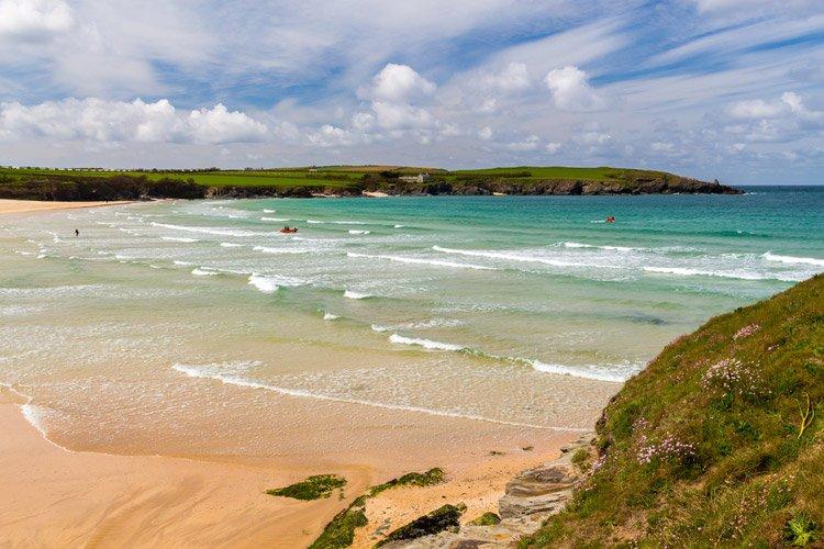 Harlyn Bay beach in Cornwall