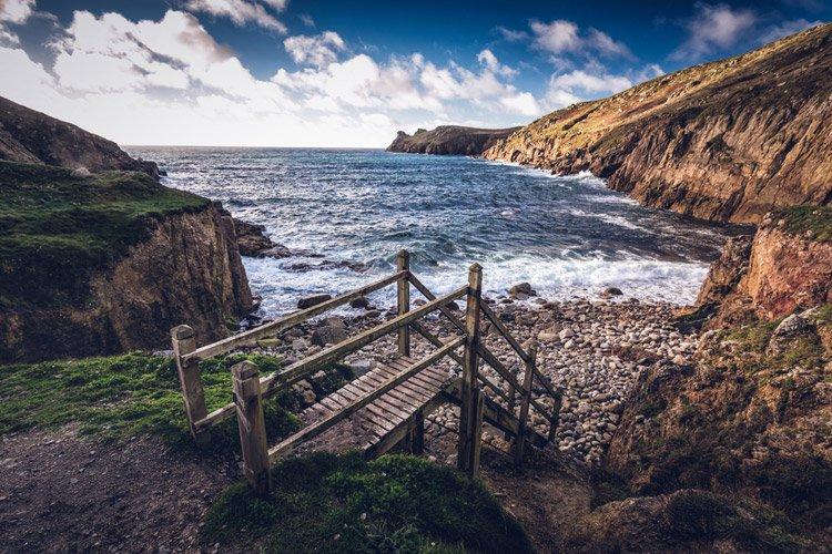 Nanjizal beach in Cornwall
