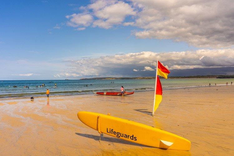Lifeguarded beach in Cornwall