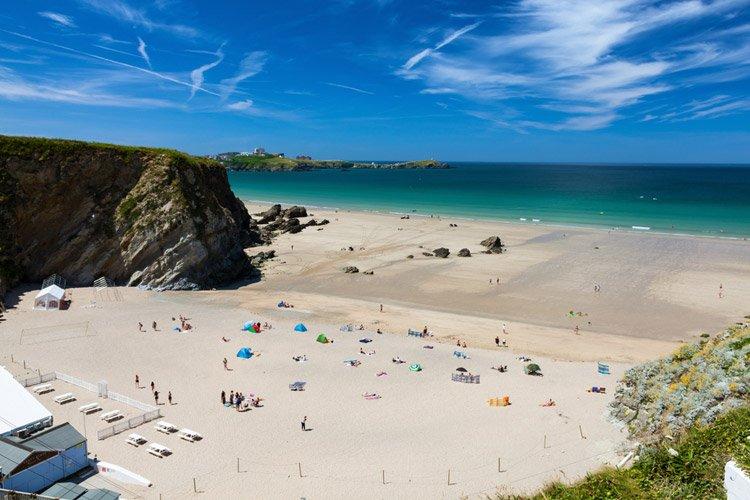 Lusty Glaze beach in Cornwall