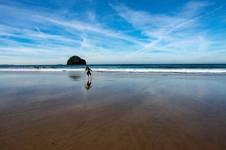 Trebarwith Strand beach Cornwall