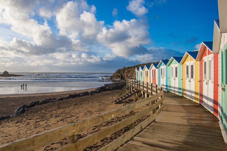 Summerleaze Beach in Cornwall