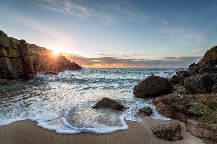 Porthgwarra beach in Cornwall