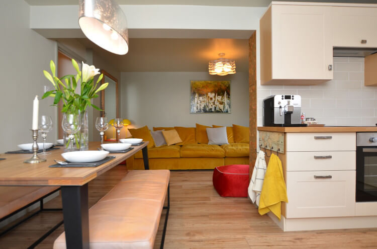 Enjoy the trendy open plan living area at The Old Store