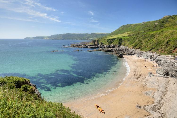 A beach in South Devon