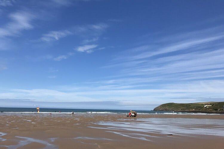 Lifeguard beach Devon