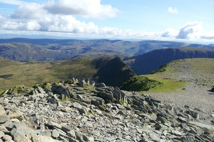 Helvellyn, a mountain in the Lake District