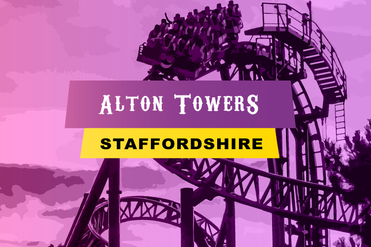Alton Towers theme park in Staffordshire