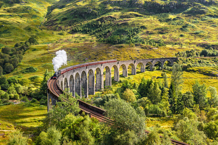 The Jacobite Steam Train in Scotland